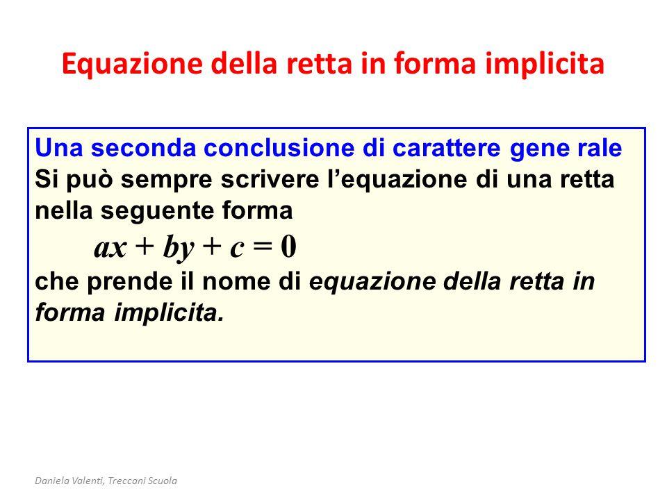 Equazione della retta in forma implicita
