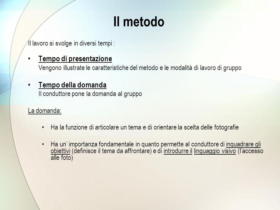 Il metodo Tempo di presentazione Tempo della domanda