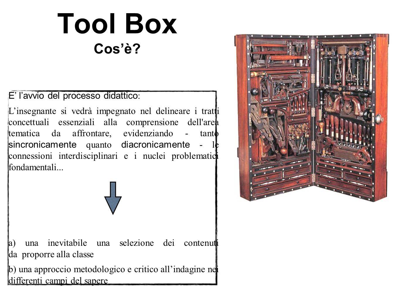 Tool Box Cos'è E' l'avvio del processo didattico: