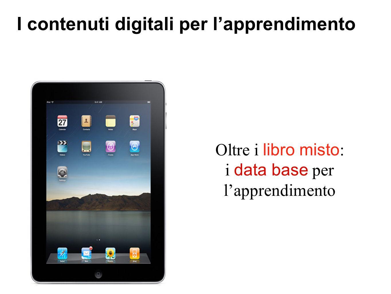 I contenuti digitali per l'apprendimento