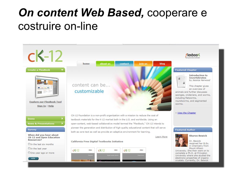 On content Web Based, cooperare e costruire on-line