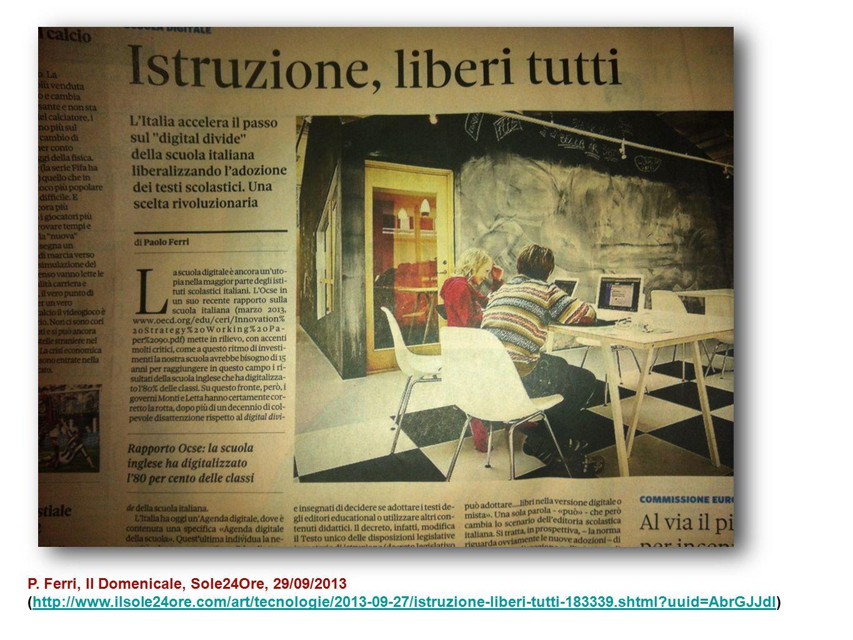P. Ferri, Il Domenicale, Sole24Ore, 29/09/2013