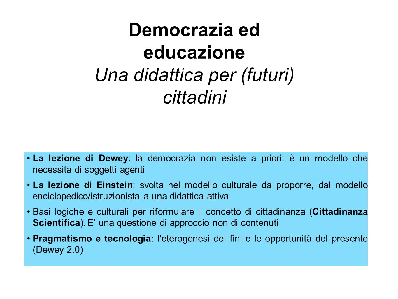 Democrazia ed educazione Una didattica per (futuri) cittadini