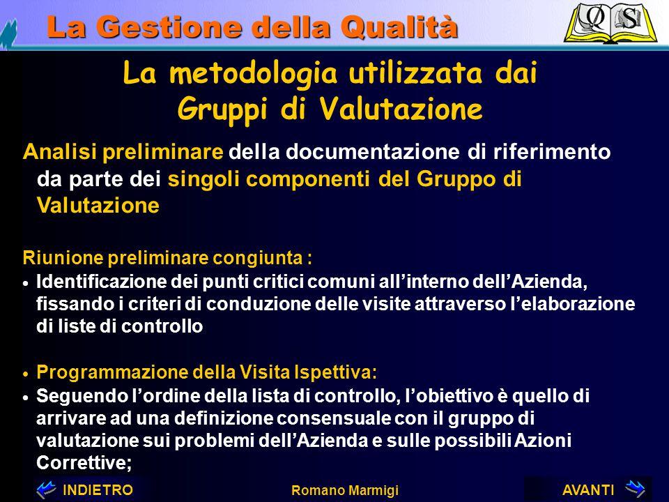 La metodologia utilizzata dai Gruppi di Valutazione