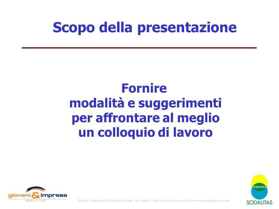 Scopo della presentazione