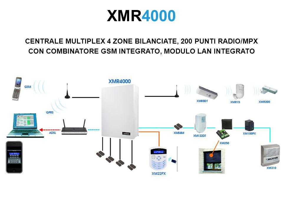 XMR4000 CENTRALE MULTIPLEX 4 ZONE BILANCIATE, 200 PUNTI RADIO/MPX