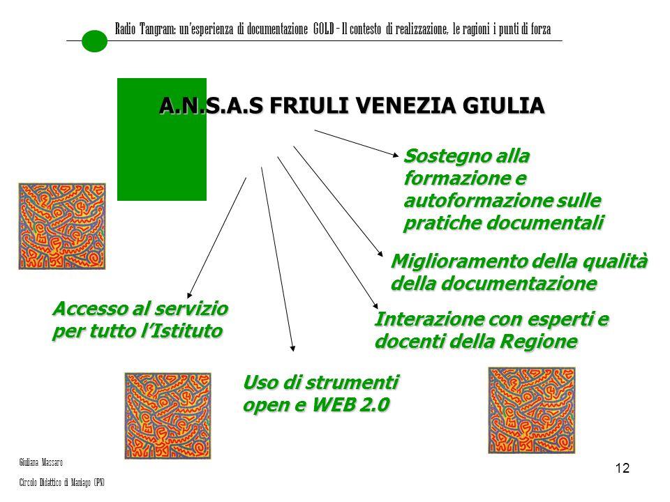 A.N.S.A.S FRIULI VENEZIA GIULIA