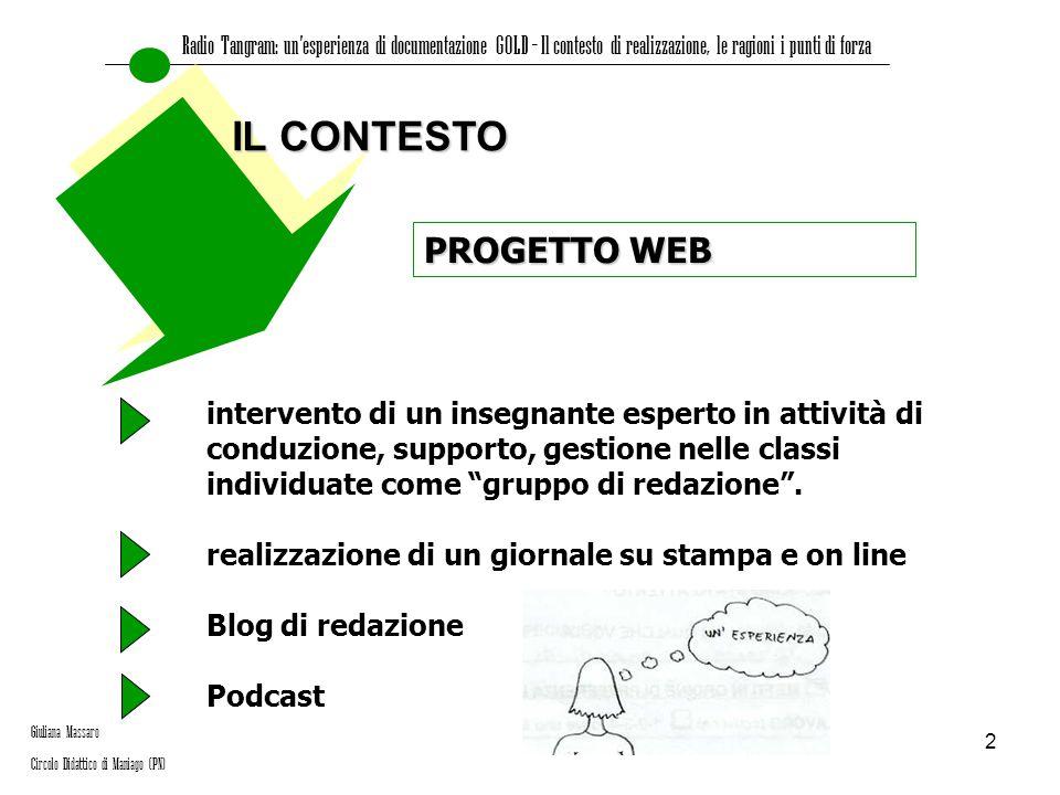 IL CONTESTO PROGETTO WEB