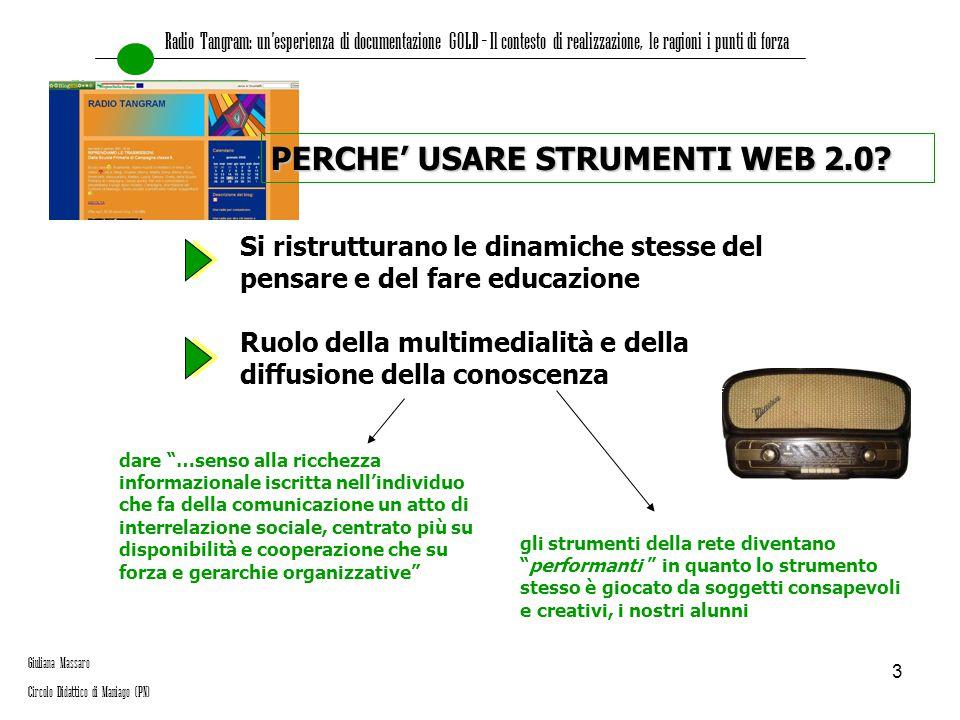 PERCHE' USARE STRUMENTI WEB 2.0