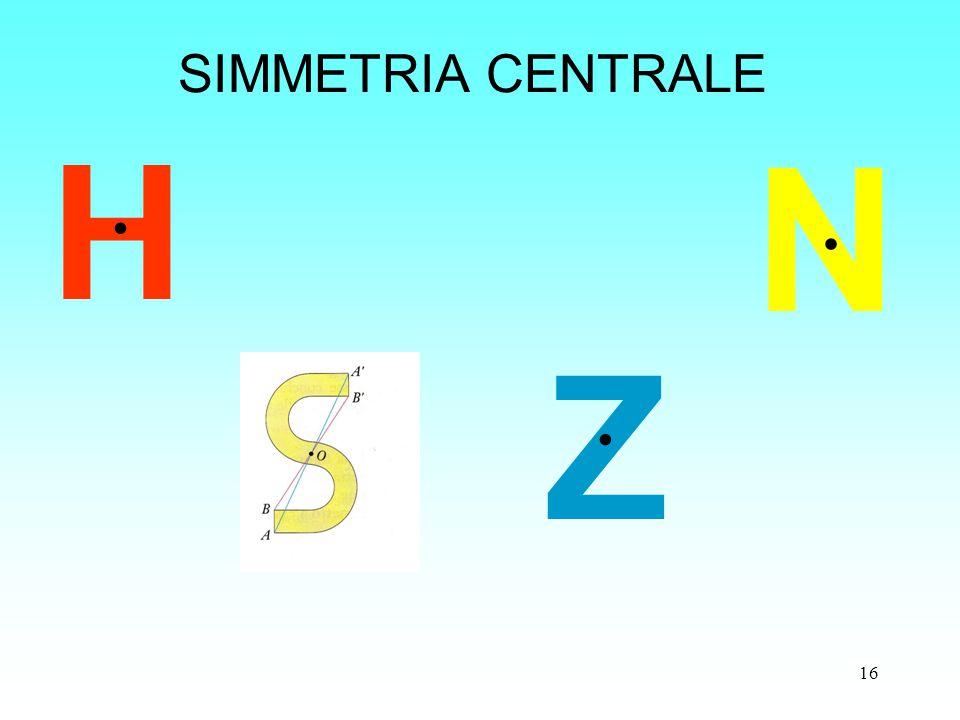 SIMMETRIA CENTRALE H N Z .