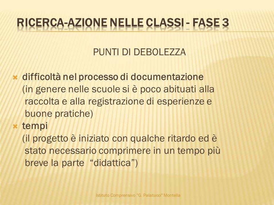 ricerca-azione nelle classi - fase 3