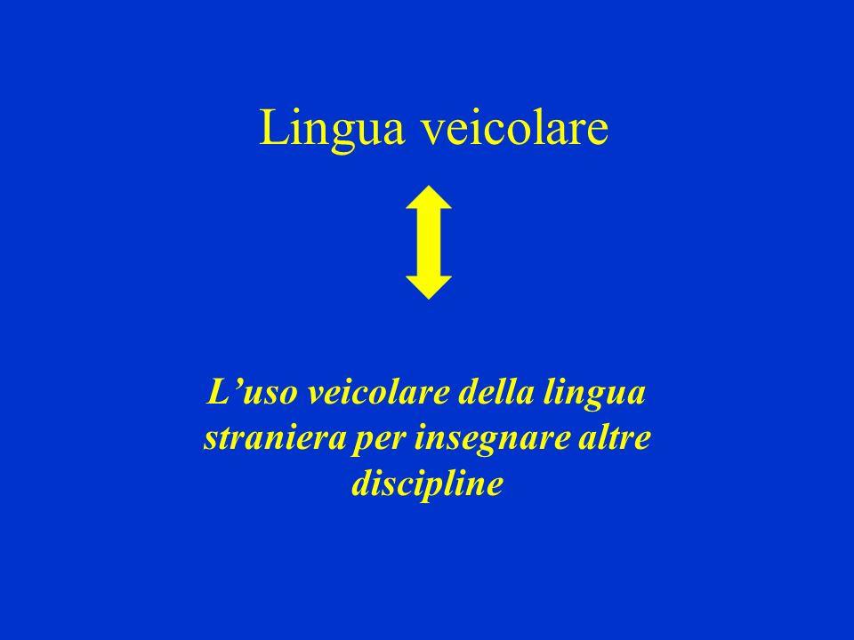L'uso veicolare della lingua straniera per insegnare altre discipline