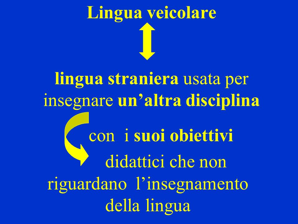 didattici che non riguardano l'insegnamento della lingua