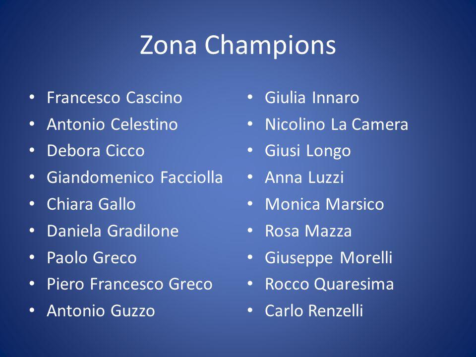 Zona Champions Francesco Cascino Antonio Celestino Debora Cicco