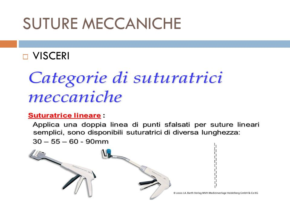 SUTURE MECCANICHE VISCERI