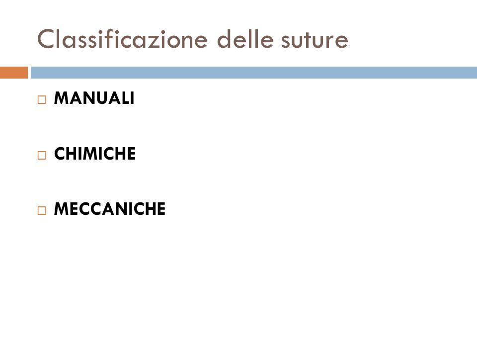 Classificazione delle suture
