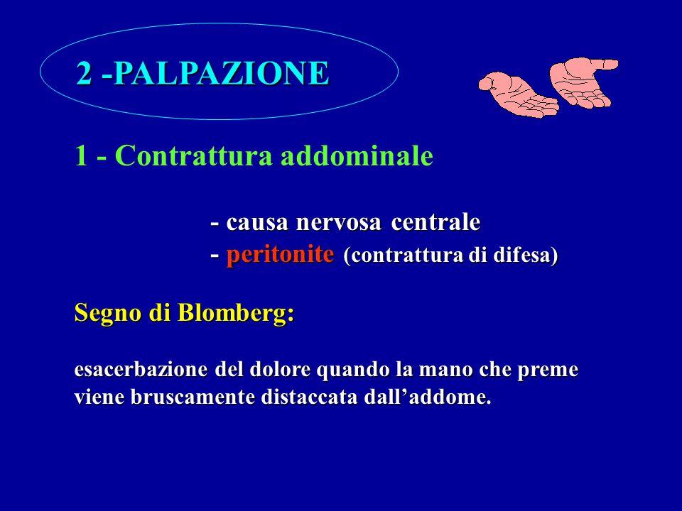2 -PALPAZIONE 1 - Contrattura addominale - causa nervosa centrale