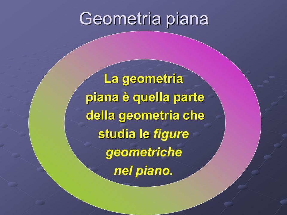 Geometria piana La geometria piana è quella parte della geometria che