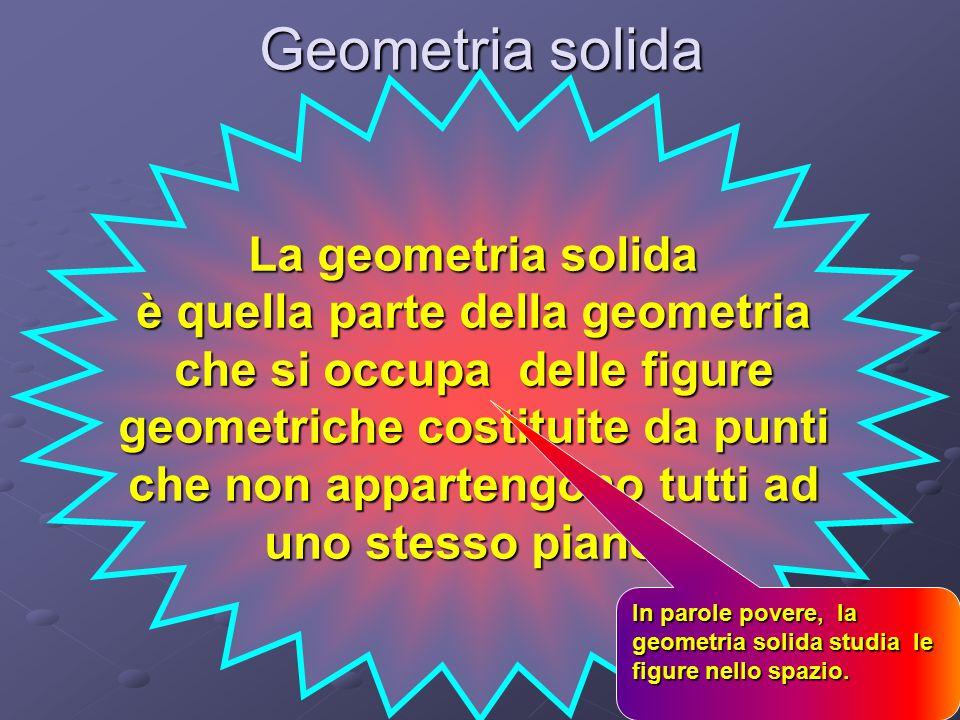 Geometria solida La geometria solida è quella parte della geometria