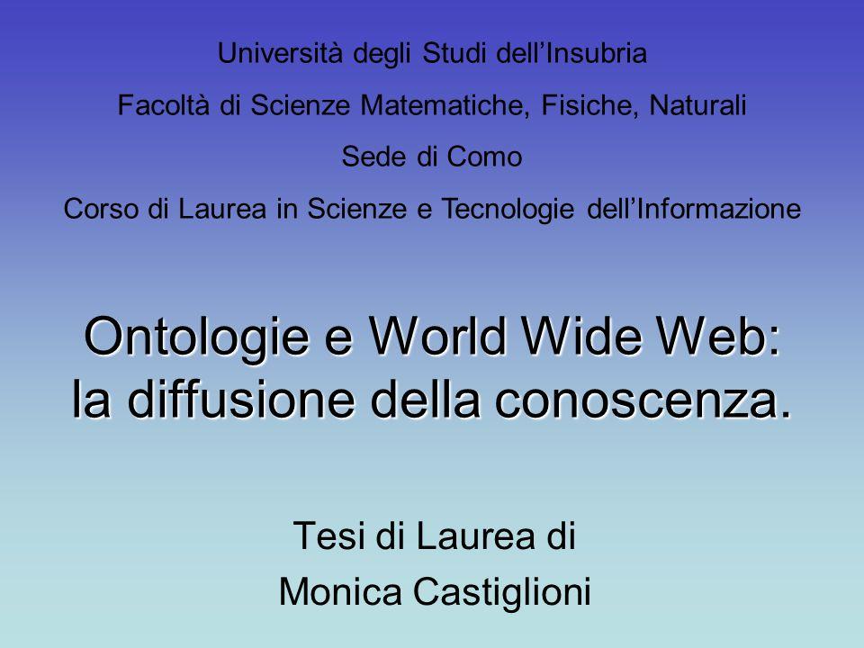 Ontologie e World Wide Web: la diffusione della conoscenza.