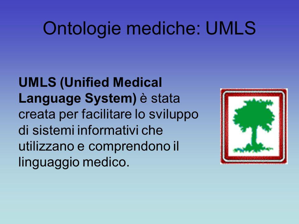 Ontologie mediche: UMLS