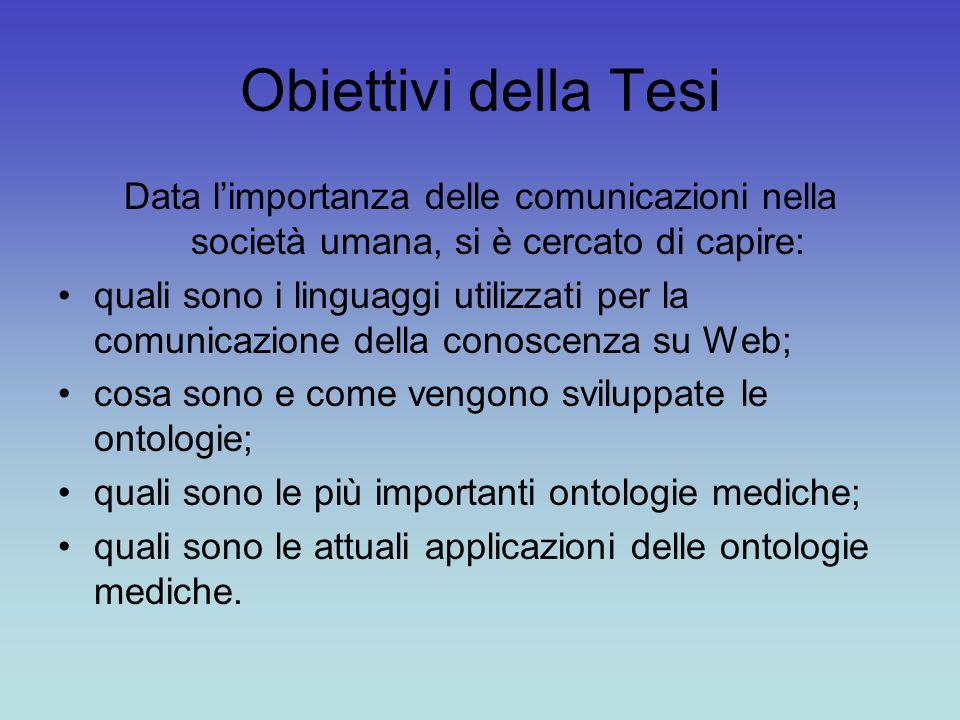 Obiettivi della Tesi Data l'importanza delle comunicazioni nella società umana, si è cercato di capire: