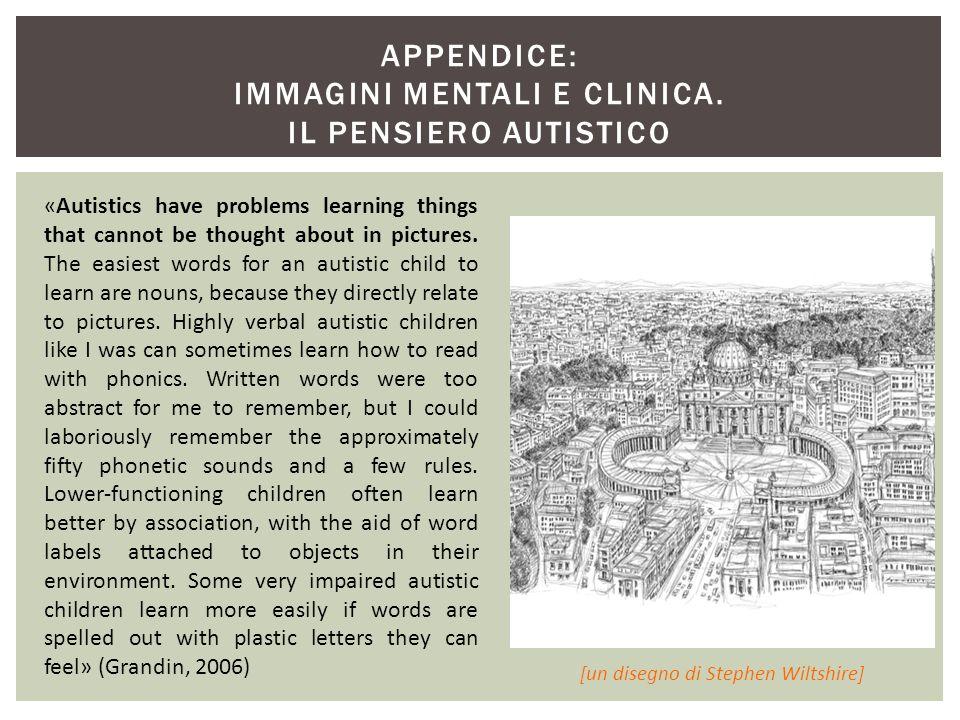 APPENDICE: IMMAGINI MENTALI E CLINICA. IL PENSIERO AUTISTICO