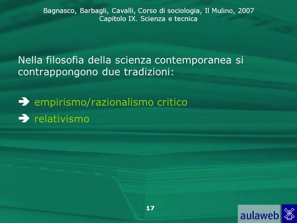  empirismo/razionalismo critico  relativismo