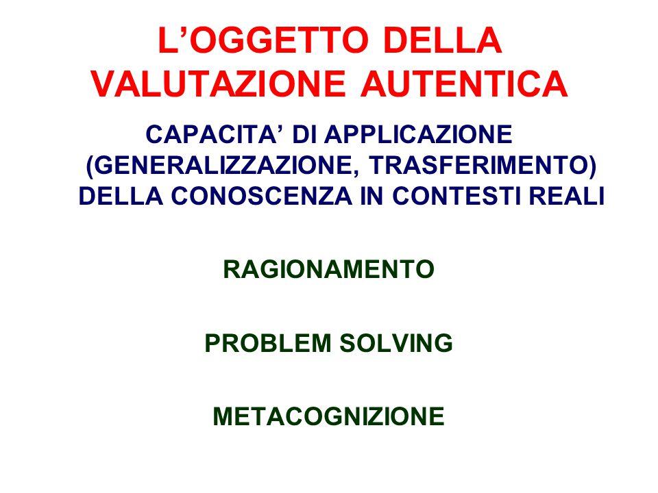 L'OGGETTO DELLA VALUTAZIONE AUTENTICA