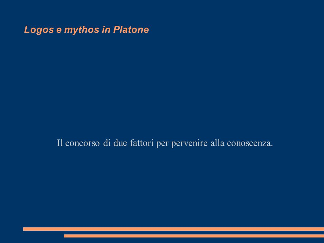 Logos e mythos in Platone