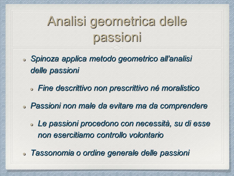 Analisi geometrica delle passioni