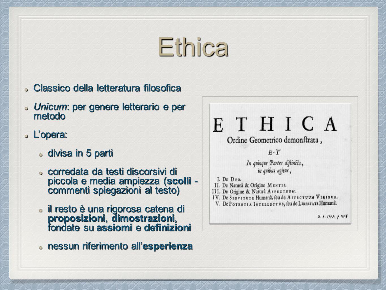Ethica Classico della letteratura filosofica