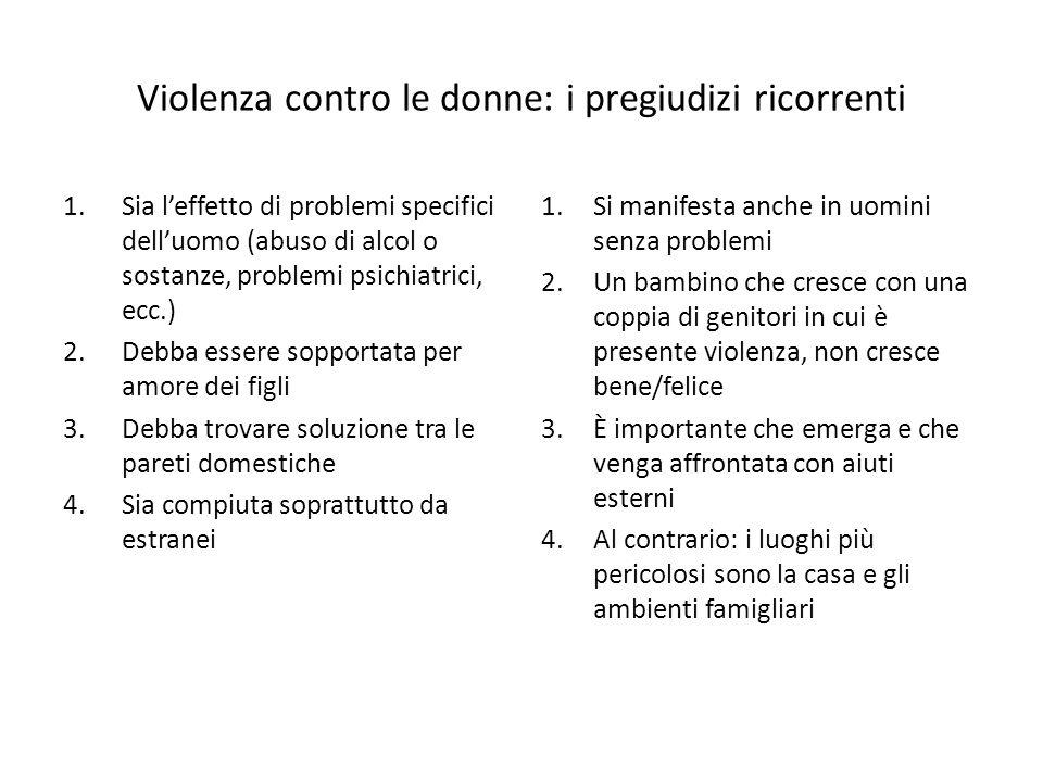 Violenza contro le donne: i pregiudizi ricorrenti