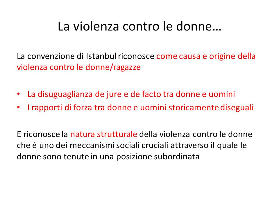 La violenza contro le donne…