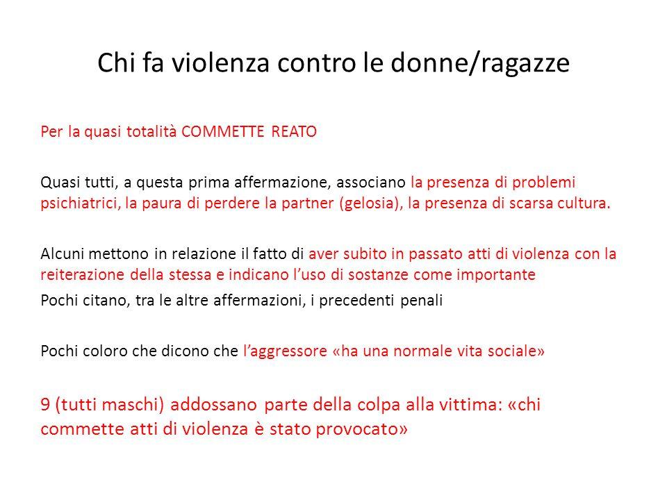 Chi fa violenza contro le donne/ragazze