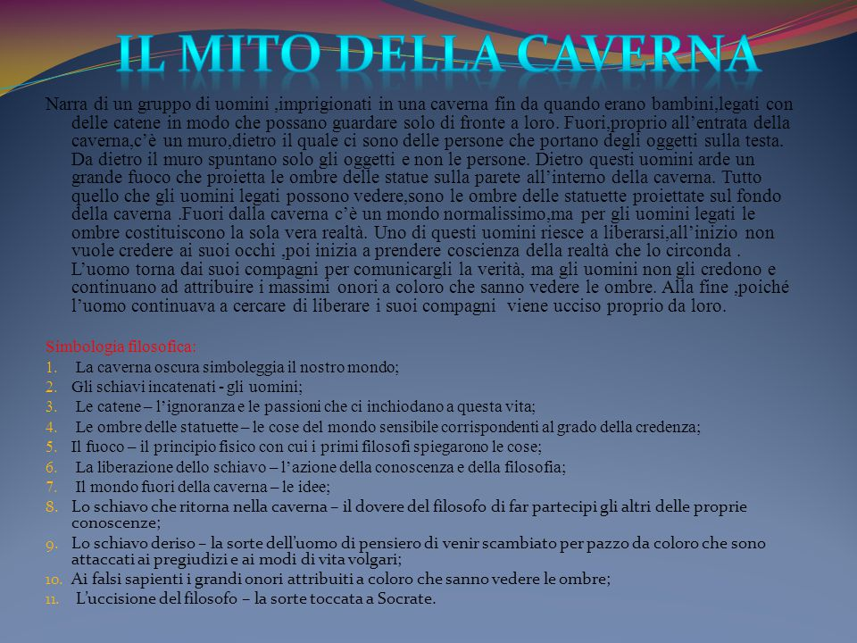 Il mito della caverna