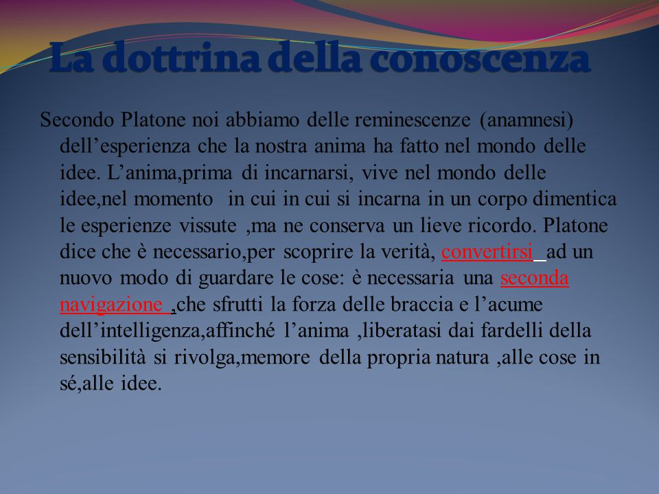 La dottrina della conoscenza