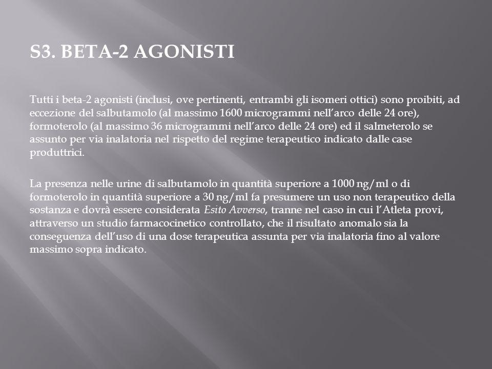 S3. BETA-2 AGONISTI