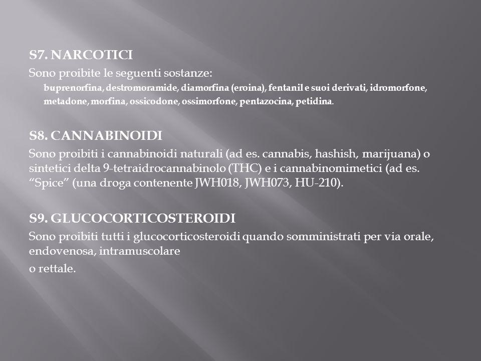 S9. GLUCOCORTICOSTEROIDI