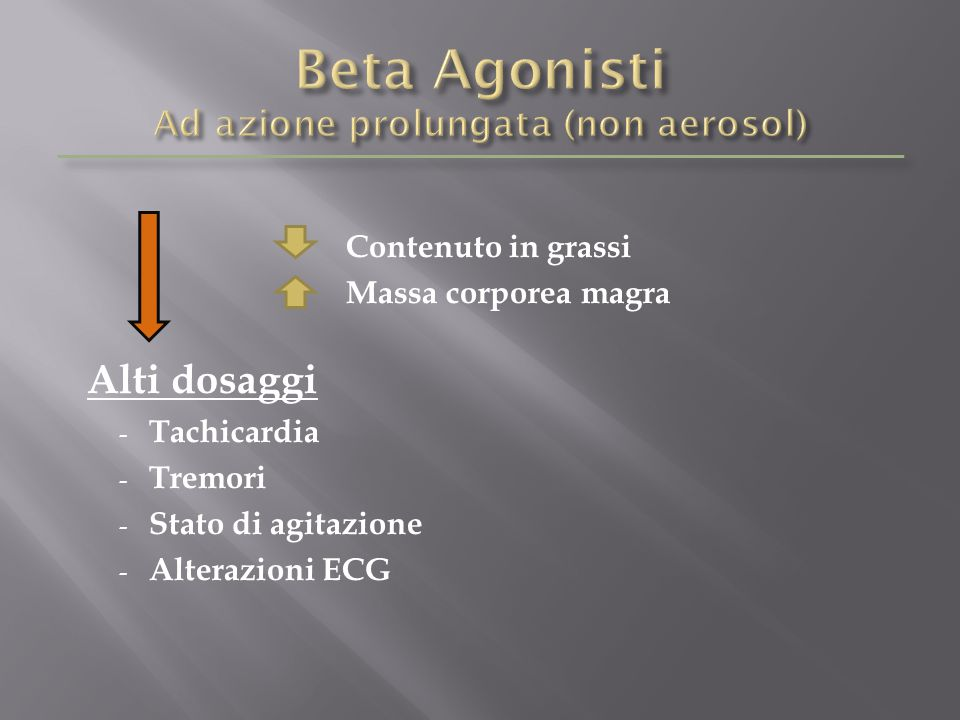 Beta Agonisti Ad azione prolungata (non aerosol)