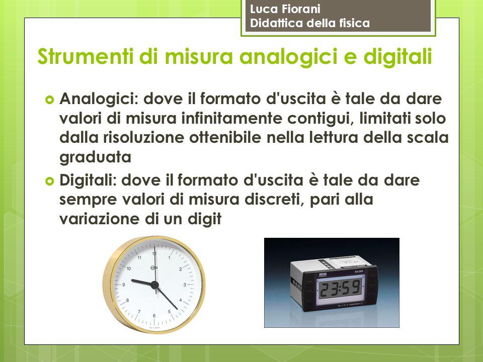 Strumenti di misura analogici e digitali