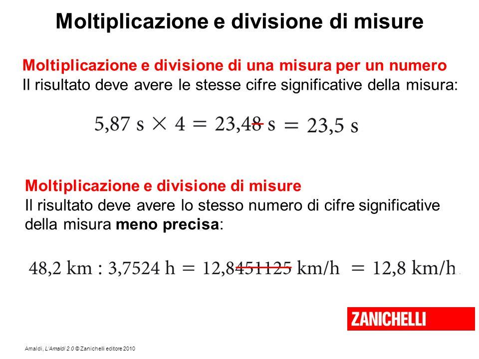 Moltiplicazione e divisione di misure