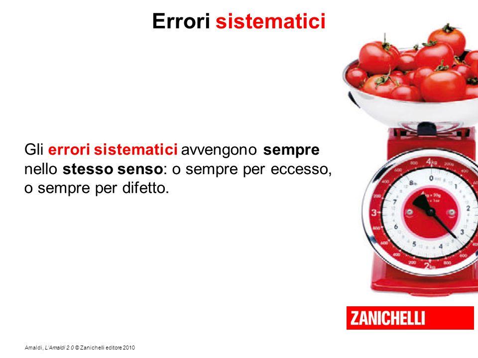 Errori sistematici Gli errori sistematici avvengono sempre