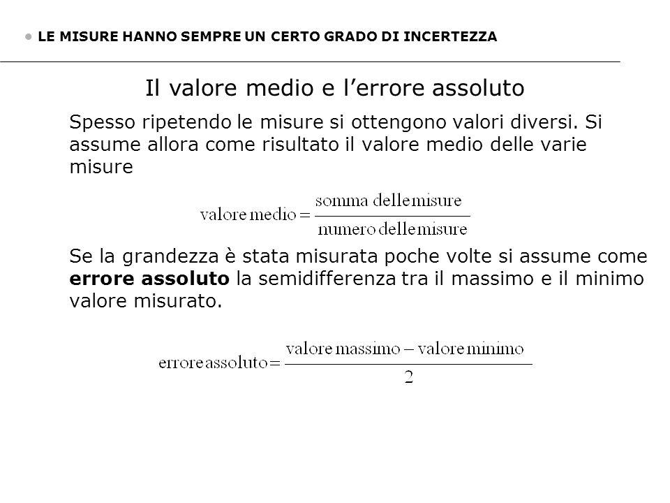5. Misure precise e misure accurate