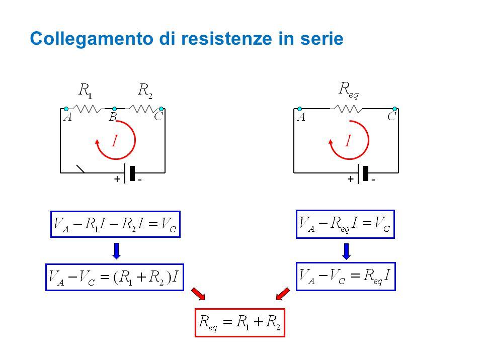 Collegamento di resistenze in serie