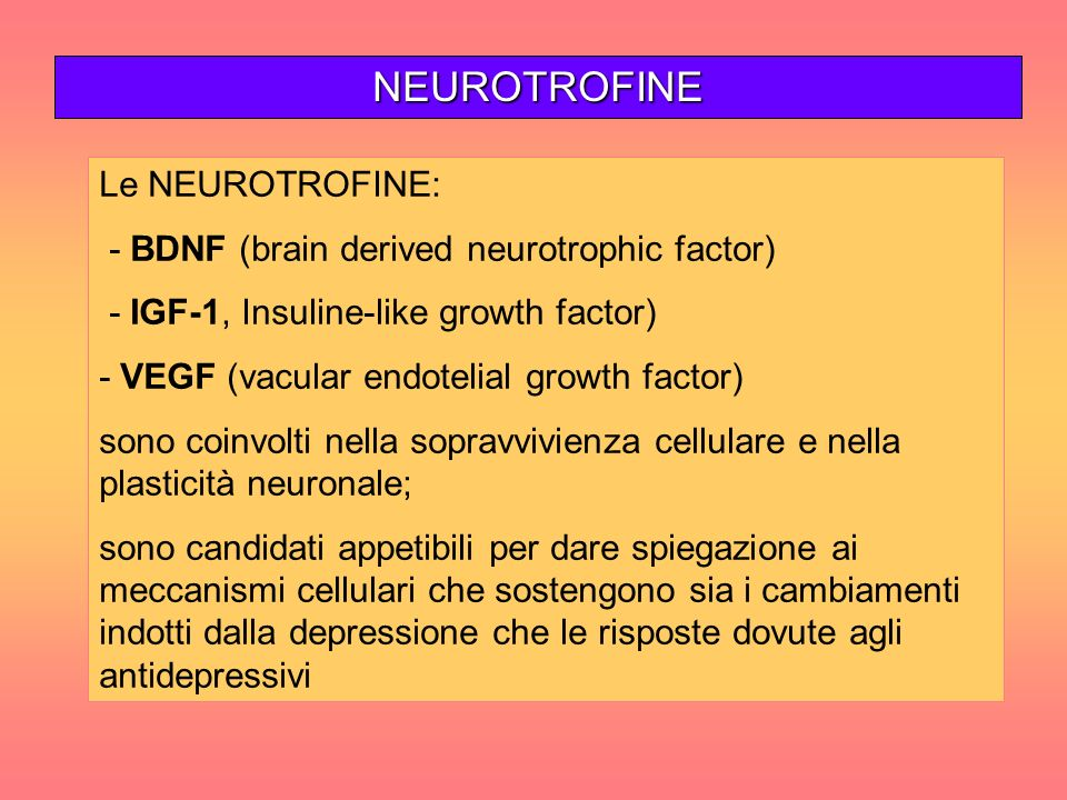 NEUROTROFINE Le NEUROTROFINE: