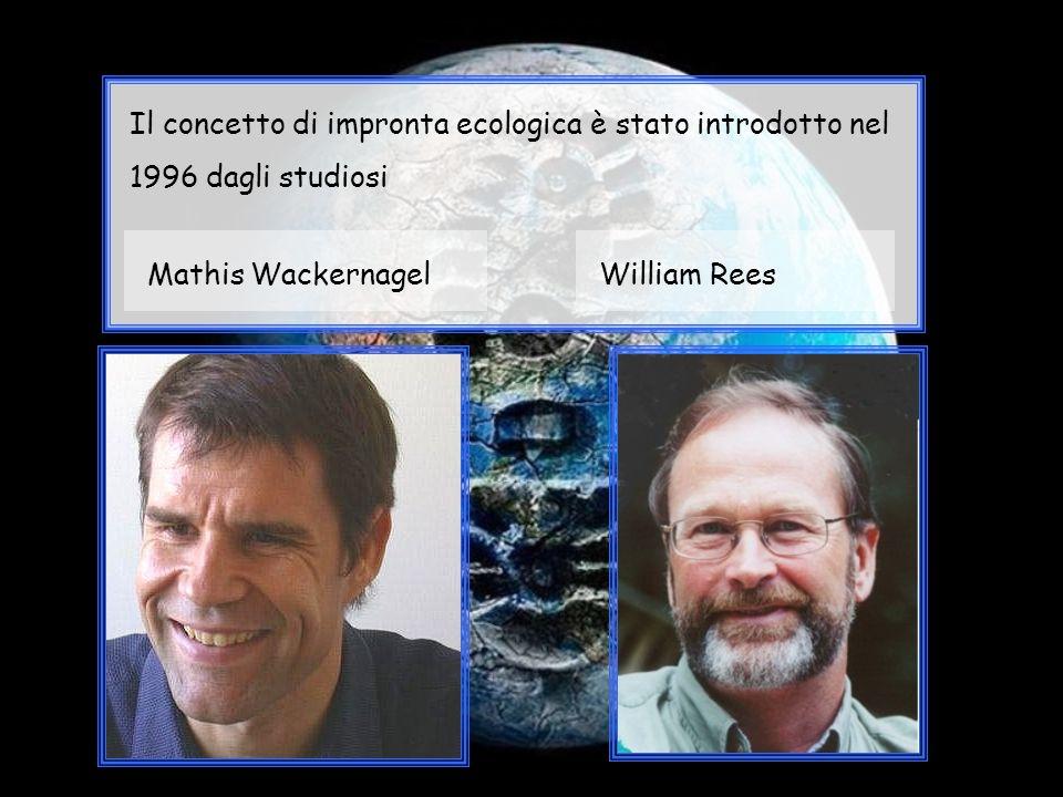 Il concetto di impronta ecologica è stato introdotto nel 1996 dagli studiosi
