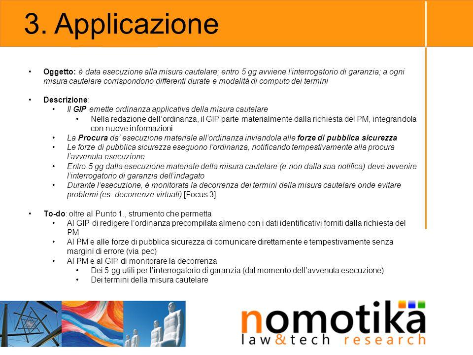 3. Applicazione