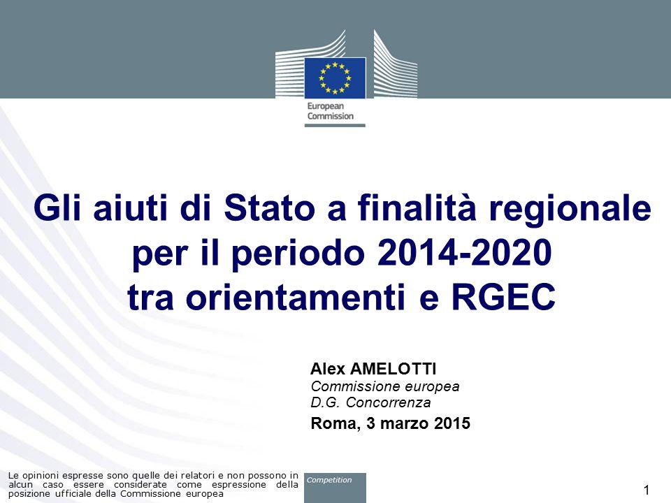 Alex AMELOTTI Commissione europea D.G. Concorrenza Roma, 3 marzo 2015