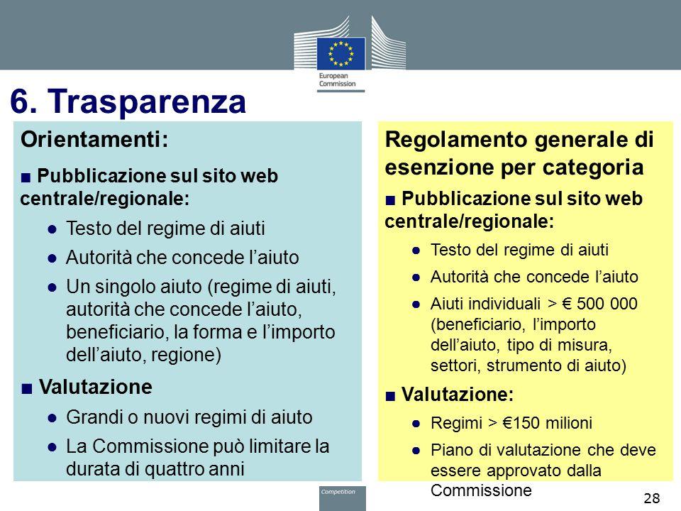 6. Trasparenza Orientamenti: